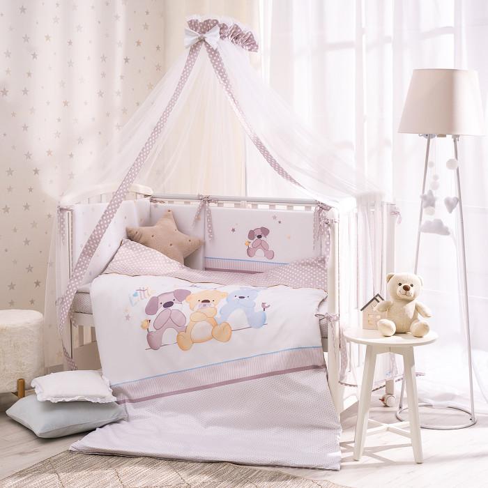 Купить Комплекты в кроватку, Комплект в кроватку Perina Три друга из сатина (7 предметов)