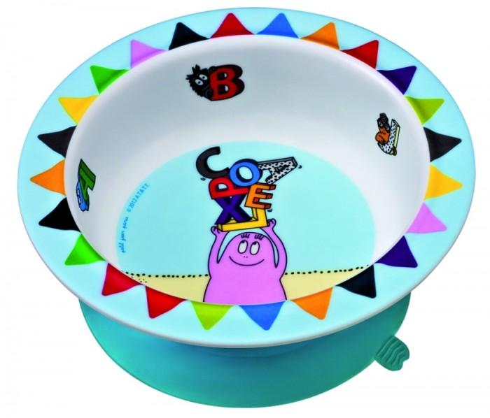 Посуда Petit Jour Тарелка глубокая на присоске Barbapapa посуда petit jour тарелка глубокая на присоске oui oui