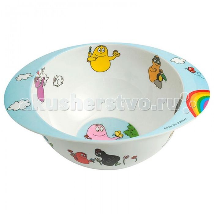 Посуда Petit Jour Тарелка глубокая с ручками Barbapapa посуда petit jour тарелка глубокая на присоске oui oui