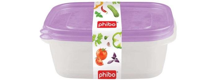 Картинка для Контейнеры для еды Phibo Комплект контейнеров Арт-декор 1.25 л 2 шт.
