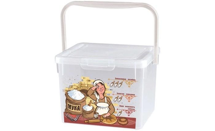 Контейнеры для еды Phibo Контейнер для муки с декором 5.3 л контейнеры для еды phibo контейнер с декором super lock 1 5 л