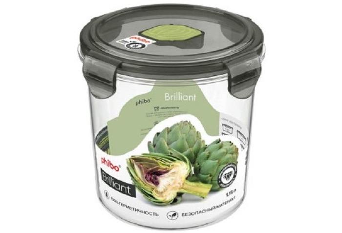 Картинка для Контейнеры для еды Phibo Контейнер герметичный с клапаном Brilliant 1.15 л