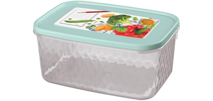 Картинка для Контейнеры для еды Phibo Контейнер с декором Кристалл 1.3 л