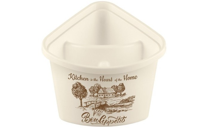 Посуда и инвентарь Phibo Подставка для столовых приборов с декором 17.6х15.7х15 см недорого