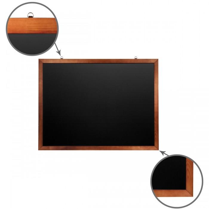 Доски и мольберты Brauberg Доска для мела магнитная деревянная рамка 90х120 см