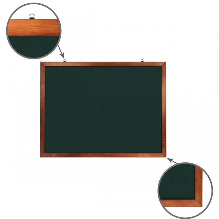 Brauberg Доска для мела магнитная деревянная рамка 90х120 смДоски и мольберты<br>Brauberg Доска для мела магнитная деревянная рамка 90х120 см предназначена для эксплуатации в учебных заведениях. Лаковое покрытие предназначено для письма мелом. Металлическая поверхность позволяет размещать материал с информацией при помощи магнитов. Деревянная рама окрашена.