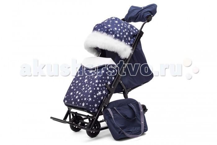 Купить Санки-коляски, Санки-коляска Pikate Compact Звезды