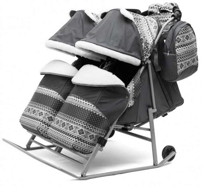 Санки-коляска Pikate Скандинавия Twin