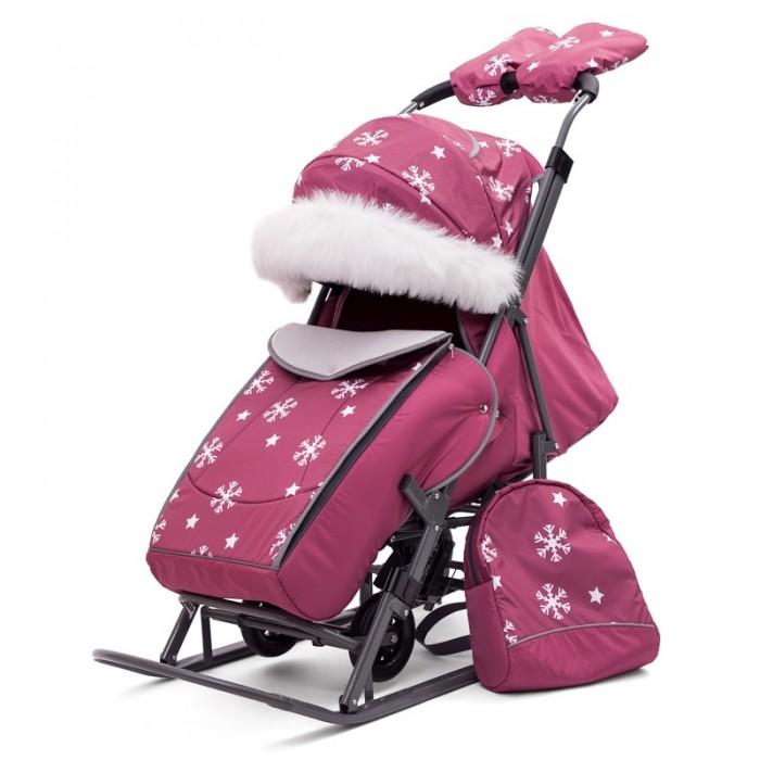 Купить Санки-коляски, Санки-коляска Pikate Снежинки