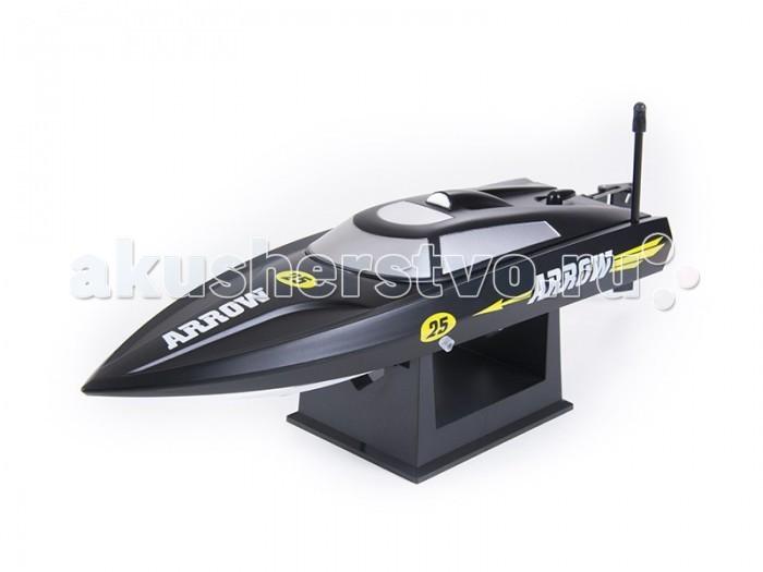 Pilotage Радиоуправляемый катер Arrow 25 RTR электроРадиоуправляемый катер Arrow 25 RTR электроPilotage Радиоуправляемый катер Arrow 25 RTR электро может поместиться на ладони, но, несмотря на миниатюрный размер, развивает скорость до 25 км/ч. Благодаря скромным размерам модель легко транспортировать, и ее всегда можно взять с собой, отправляясь на водоем. Бассейн, озеро или пруд, любой водоем послужит для этой модели в качестве акватории.   Модель выпускается в нескольких вариантах окраски. Мощный мотор в сочетании с литиевой батареей заставляют катер на скорости буквально выпрыгивать из воды. Система радиоуправления c защитой от помех  гарантирует надежную связь. Модель полностью готова к запуску, просто извлеките ее из упаковки, зарядите  аккумулятор и отправляйтесь на водоем. С Arrow 25 вам не будет скучно на пляже!  Супер высокая скорость Идеальный размер для гонок в бассейне Водяное охлаждение мотора Прочный корпус из ABS пластика.<br>