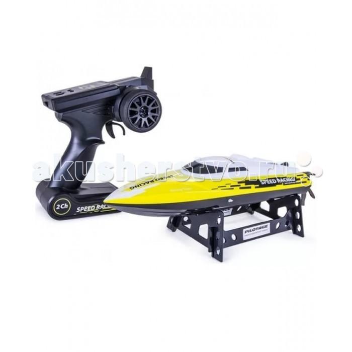 Pilotage Радиоуправляемый катер Speed Racing RTR электроРадиоуправляемый катер Speed Racing RTR электроPilotage Радиоуправляемый катер Speed Racing RTR электро особенностью модели является - механизм переворота. Если ваша лодка перевернулась в воде, вдали от берега, вы можете активировать механизм переворота с помощью комбинации команд (смотрите инструкцию). Теперь вам не придётся плыть за обездвиженной лодкой. Интересным моментом является то, что катер включается только при соприкосновении с водой. Это сделано для того, чтобы снизить риск поломки мотора водяного охлаждения.  Бассейн, озеро, пруд, городской фонтан, любой водоем послужит для этой модели в качестве акватории.   Мощный мотор с водяным охлаждением в сочетании с литиевой батареей заставляют катер на скорости буквально выпрыгивать из воды. Система радиоуправления и бортовая электроника с влагозащитой обеспечивают надежную связь. Модель полностью готова к запуску, просто извлеките ее из упаковки, зарядите  аккумулятор и отправляйтесь на водоем. С катером Speed Racing вам не придется скучать во время отдыха у воды!  Особенности катера Speed Racing: максимальная скорость до 25км/ч идеальный размер для гонок в небольшом водоеме водяное охлаждение двигателя прочный корпус из ABS пластика функция переворота сигнализация низкого разряда и превышения дальности подзарядка аккумулятора через USB-кабель датчик безопасности Li-ion аккумулятор 3.7В 600мАч.<br>