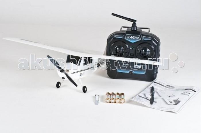 Pilotage Радиоуправляемый самолет Super Cub RTF электроРадиоуправляемый самолет Super Cub RTF электроPilotage Радиоуправляемый самолет Super Cub RTF электро - трехканальная радиоуправляемая модель с электромотором, полукопия легендарного самолета J3 CUB.  Этот небольшой легкий и изящный красный самолет, великолепный выбор для начинающих пилотов и отличная забава для моделистов с опытом. Для полетов этой модели не потребуется много места: небольшой стадион, теннисный корт или поляна в ближайшем  парке подойдут для самолета в качестве летной площадки.  Модель управляется по трем каналам: контроль оборотов двигателя, руль направления и руль высоты. Модель в полном комплекте, аккумулятор самолета заряжается от пульта, все автономно.  Модель готова к полету прямо из коробки, и запускать ее можно хоть целый день, пока не разрядятся батарейки в передатчике.  Реалистичный внешний вид. Увеличенный размах крыльев. Устойчивый в полете. Легко взлетает, быстро набирает высоту, невысокая скорость полета.  Может взлетать с земли или с руки. Технология 2,4 ГГц обеспечивает дальность управления до 150метров и позволяет запускать несколько моделей одновременно. Крутит изящные мертвые петли, грациозно выполняет горизонтальную восьмерку. Встроенное в передатчик зарядное устройство. Суперлегкая конструкция + облегченное шасси обеспечивают безопасность полетов. Фюзеляж и крыло из плотного пеноматериала гарантируют необходимую прочность. Заряжается за 30 минут, время полета 15 мин.<br>