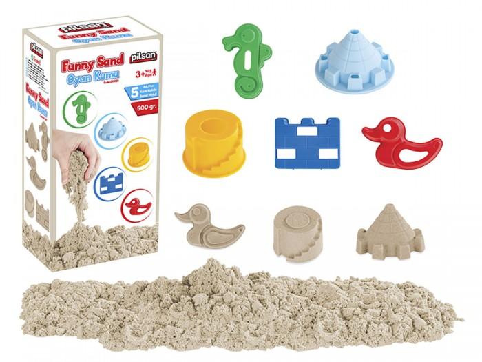 Всё для лепки Pilsan Цветной кинетический песок с формами Super Sand 500 г кинетический песок транспорт 800 г 12180030р