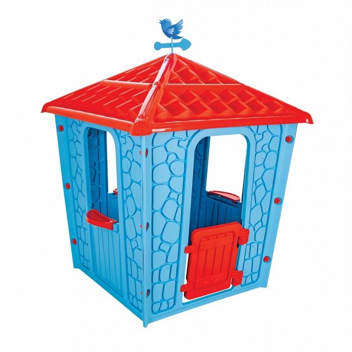 Pilsan Игровой домик StoneИгровые домики<br>Pilsan Игровой домик Stone может устанавливаться на детские площадки как открытого, так и закрытого типа, в том числе в жилых помещениях.   Если у Вашего ребенка богатая фантазия, он любит строить шалаши из подушек и палатки из одеял, игровой домик сделает его досуг более интересным и похожим на сюжет сказки. У домика интересный дизайн, прочная износостойкая конструкция и отличный потенциал для ролевых игр.  Особенности:   Рекомендуется для детей от 1 года до 7 лет, при этом максимальный вес ребенка никак не ограничен. Количество детей также не ограничено. В комплект домика входят: боковые стены, крыша в виде черепицы, флюгер, дверца, подоконники на окнах. Домик поставляется в двух цветовых исполнения: сине-красном и сиренево-лиловом. Детали домика закрепляются между собой специальными пазами, как конструктор и имеют дополнительные крепежные узлы Высота домика в собранном состоянии достигает 1 м. 50 см., что не требует высоких потолков в случае его установки в жилом помещении Длина комплекса в рабочем состоянии достигает 1 м. 15 см. Установите этот домик у себя на лужайке, на даче или в просторной гостиной и радости Ваших детей не будет предела многие месяцы!