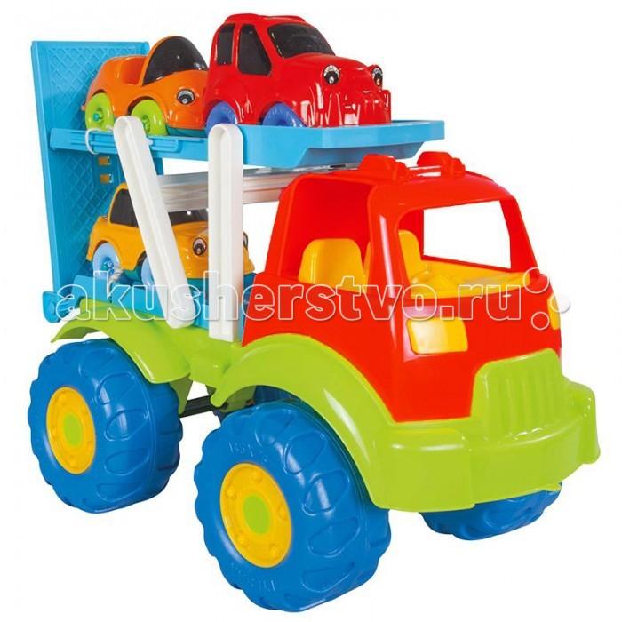 Pilsan Автовоз Tombik с 3 машинкамиАвтовоз Tombik с 3 машинкамиМашина Pilsan Автовоз Tombik имеет нестандартный дизайн. Этот грузовик может перевозить легковые машинки. Сверху к нему крептс маленькие цветные автомобили. Машинка подходит дл деток от 2 до 6 лет.   Сделаны игрушки из высококачественных материалов, которые полность соответствут современным требованим безопасности. Автовоз имеет рельефные пластиковые колеса, которые легко едут даже по песку.   Машинка может использоватьс, как в помещении, так и на улице. Стоит отметить, что благодар такой машинке ребенок сможет легко выучить цвета, развить координаци движений и образное мышление.  В комплекте 3 машинки. Выполнены в рких и красочных цветах. Удобные дл маленьких ручек. Материал: прочный пластик. Размеры: 26х51х38 см.  Цвета в ассортименте.  Компани Pilsan начала сво истори в 1942 году. Сегодн – то компани-гигант индустрии крупногабаритных детских игрушек, котора кспортирует сво продукци в 57 стран мира. Компанией выпускаетс 146 наименований продукции – аккумулторные и педальные автомобили, велосипеды, развиващие игрушки и аксессуары дл детей. Вс продукци Pilsan сертифицирована и отвечает международным стандартам качества.<br>