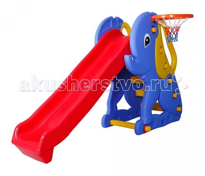 Горка Pilsan Elephant Slide с баскетбольным кольцом