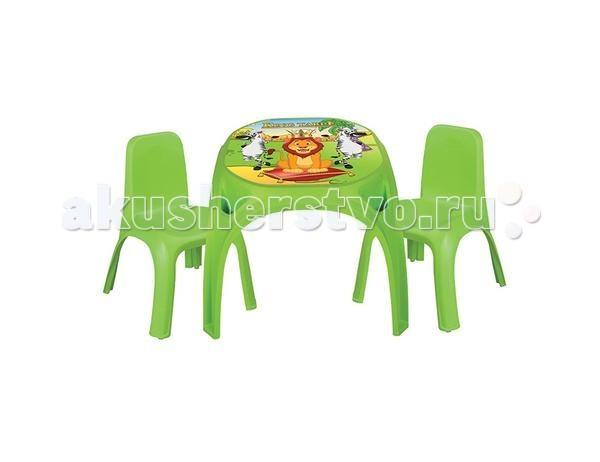 Pilsan Набор стол + 2 стула KingНабор стол + 2 стула KingОчень удобный набор, который будет служить вашему ребенку на протяжении нескольких лет. У малыша теперь будет собственное место для занятий творчеством, игр и обучения, яркое и удобное.  Особенности: эргономичный дизайн легко моется устойчив к солнечным лучам выполнен из прочного пластика безопасный  Размеры стола: 64.5 х 64.5 х 50.5 см. Размер стула: 43 х 43 х 56 см. Максимальная нагрузка на стул 150 кг.  Среди огромного количества детских игрушек выгодно отличается продукция турецкой компании Pilsan, которая является лидером в производстве крупногабаритных игрушек для детей разных возрастов. Продукцию компании Pilsan характеризует высокое качество, недаром лозунг компании звучит как «Quality in Toys» - «Качество в игрушках». Продуманный дизайн, тестирование, обеспечение контроля на всех стадиях производства подтверждает слоган компании. Все игрушки, производимые компанией Pilsan, отличаются высоким качеством, безопасны, не содержат вредных материалов и красителей, для производства используется экологически чистый пластик<br>