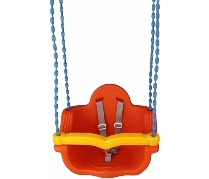 Качели Pilsan подвесные Джамбо на цепяхподвесные Джамбо на цепяхПодвесные качели Pilsan Chained Jumbo предназначены для детей от 1 года.   Прекрасное развлечения для Ваших детей. Качели представляют собой цельное сидение со спинкой, ограничителем и ремнем безопасности, 2 каната которые проходят в отверстиях сидения и спинки. Вам останется только подвесить качели.  Среди огромного количества детских игрушек выгодно отличается продукция турецкой компании Pilsan, которая является лидером в производстве крупногабаритных игрушек для детей разных возрастов. Продукцию компании Pilsan характеризует высокое качество, недаром лозунг компании звучит как «Quality in Toys» - «Качество в игрушках». Продуманный дизайн, тестирование, обеспечение контроля на всех стадиях производства подтверждает слоган компании. Все игрушки, производимые компанией Pilsan, отличаются высоким качеством, безопасны, не содержат вредных материалов и красителей, для производства используется экологически чистый пластик.<br>
