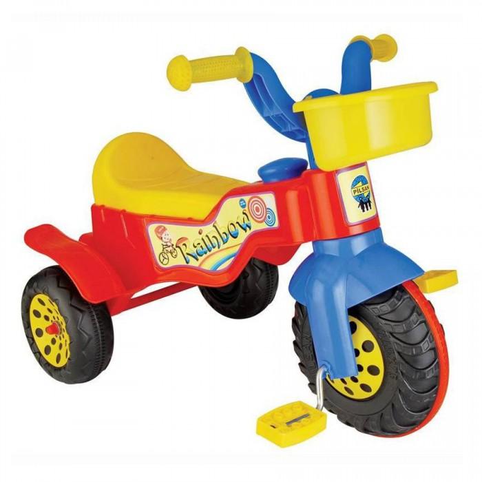 Велосипед трехколесный Pilsan Rainbow 07 116Rainbow 07 116Велосипед трехколесный Pilsan Rainbow 07 116 - просто создан для маленьких гонщиков! Широкое и удобное сидение позволит малышу комфортно чувствовать себя во время прогулки и предотвращает быстрое утомление.   Rainbow представляет собой легкий трехколесный велосипед с педалями на переднем колесе.Анатомическое сиденье создает необходимые уровень комфорта ребенка.   Максимальный вес ребенка не должен превышать 50 кг.  Легкий велосипед Pilsan Rainbow Bike предназначен для детей от 2 до 4 лет.  Способствует развитию опорно двигательного аппарата ребенка, укреплению суставов и координации в пространстве.  Благодаря небольшому размеру велосипедом можно пользоваться как на улице, так и дома.   Велосипед оснащен клаксоном и корзинкой на руле.<br>