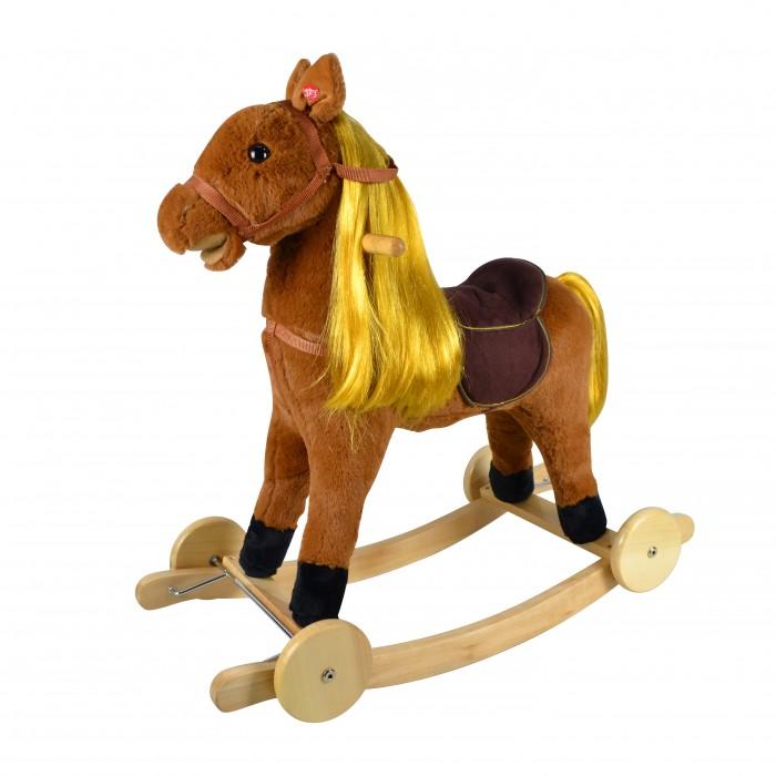 Купить Качалки-игрушки, Качалка Pituso Лошадка с колесами и длинной гривой музыкальная