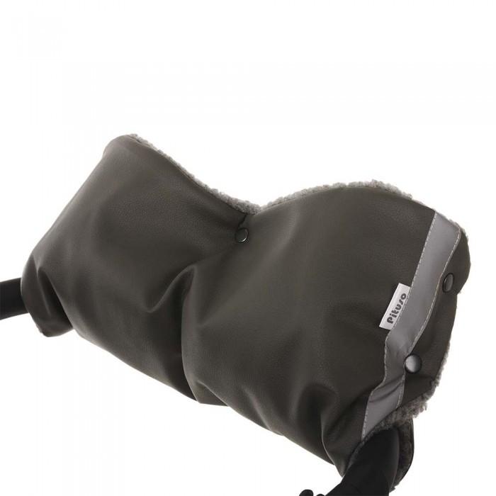 Купить Муфты для рук, Pituso Муфта для рук на коляску (экокожа/мех)