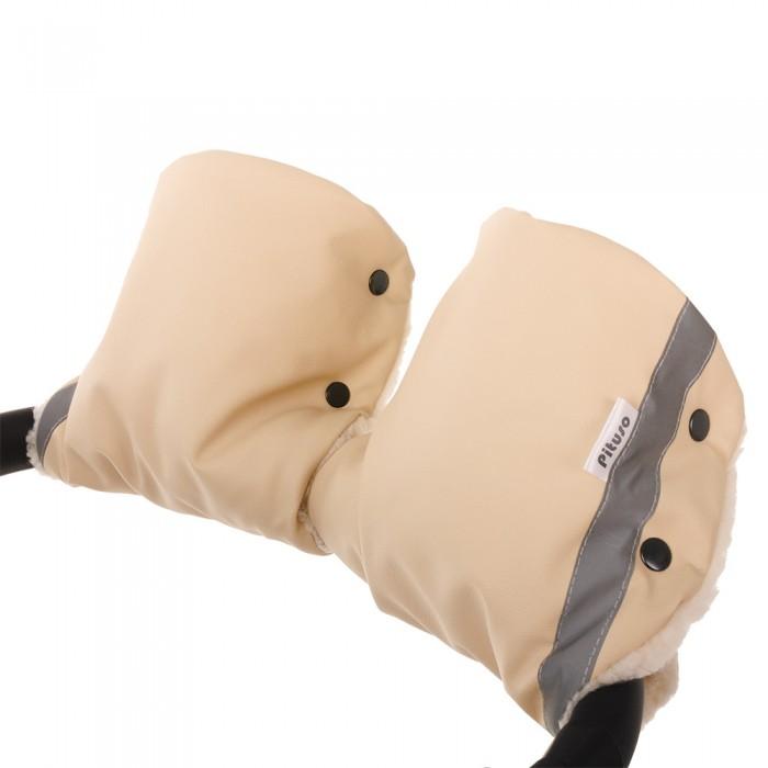 Муфты для рук Pituso Муфта-варежки на коляску (мех/экокожа)