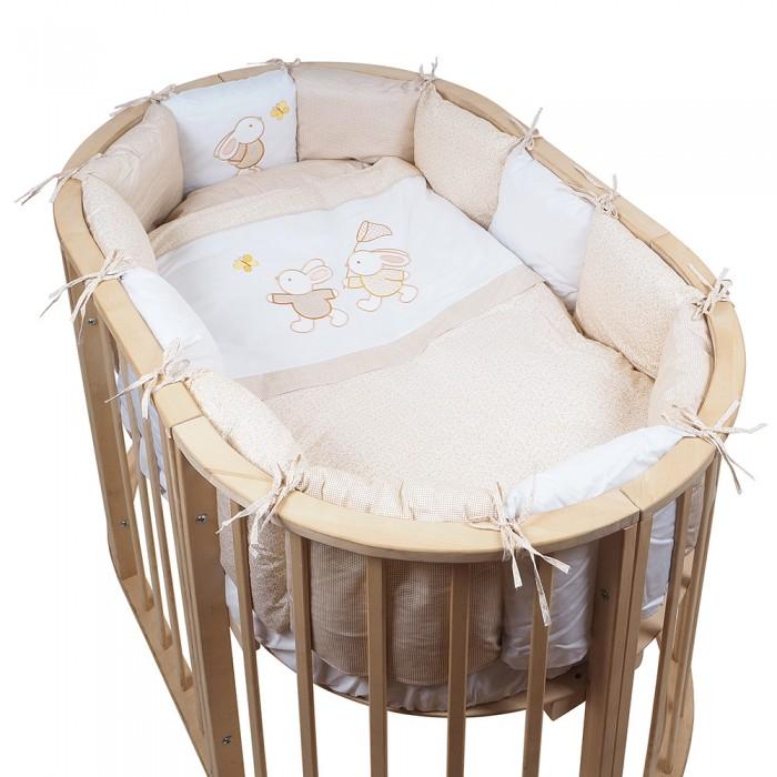 Постельные принадлежности , Комплекты в кроватку Pituso На лужайке подушки (6 предметов) для овальной кроватки арт: 440879 -  Комплекты в кроватку