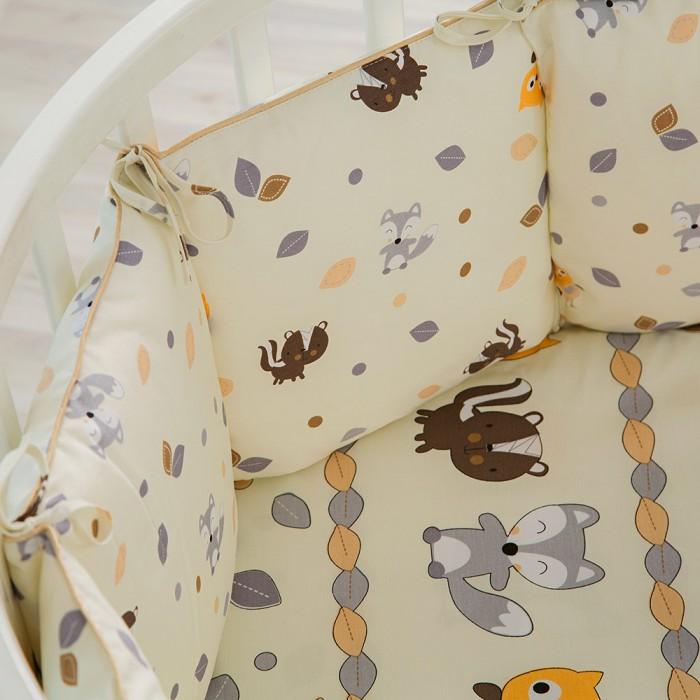 Картинка для Бортики в кроватку Pituso универсальный В Добром Лесу слит подушки