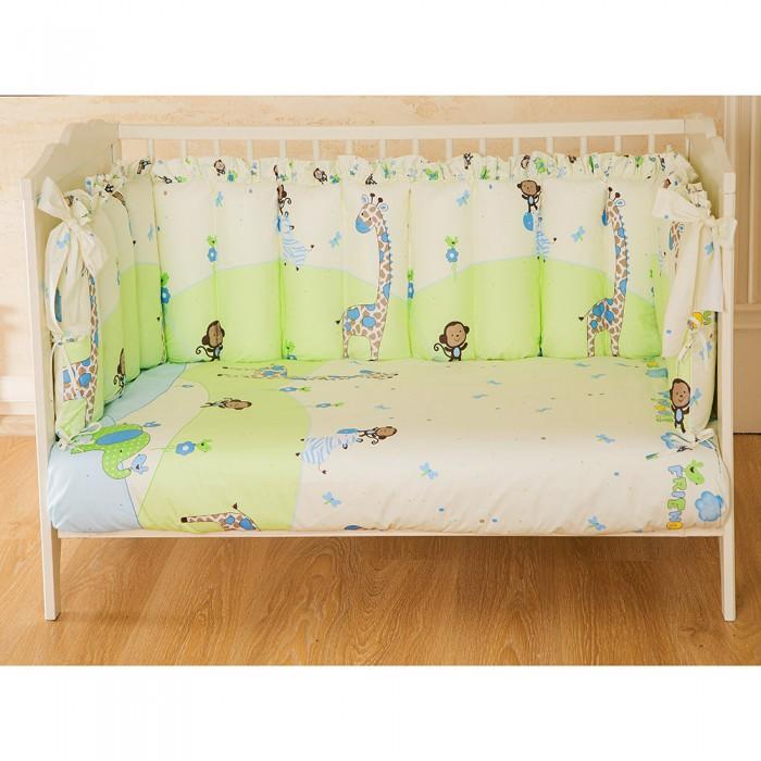 Картинка для Комплекты в кроватку Pituso универсальный Зоопарк рюши/столбики (4 предмета)