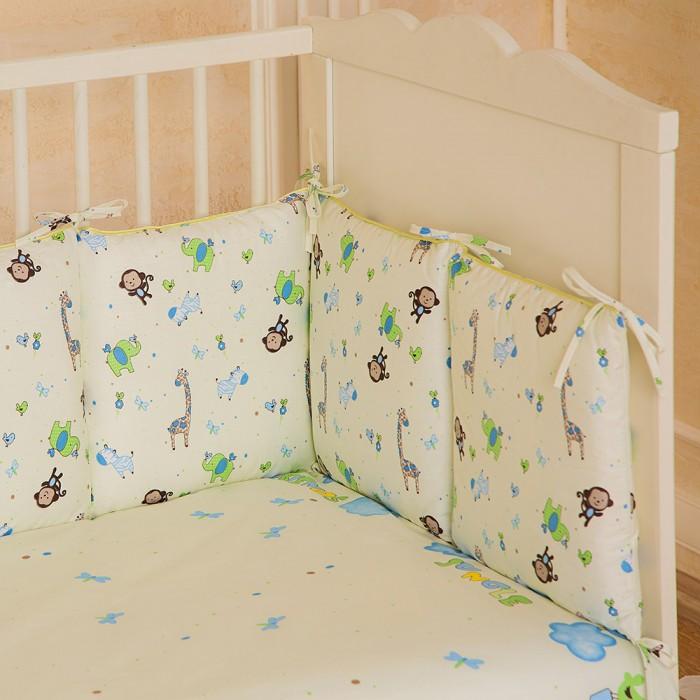 Картинка для Бортики в кроватку Pituso универсальный Зоопарк слит подушки