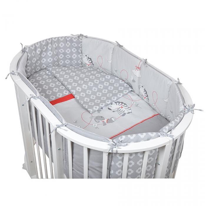 Комплект в кроватку Pituso для овальной кроватки Зебра (6 предметов)