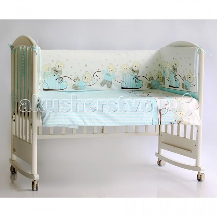 Бортик для кроватки Pituso МишкиМишкиБампер для кроватки Pituso Мишки не только придаст кроватке дополнительный уют, но и защитит Вашего малыша от сквозняков.  Материалы и краски постельного белья отвечают всем экологическим нормам и абсолютно безвредны для здоровья ребенка.  Особенности: Бортик в стандартную кроватку 120х60, четыре части 41х120 (2 детали), 41х60 см (2 детали) Сьемный чехол (застежка молния)  Наполнитель: холлкон<br>