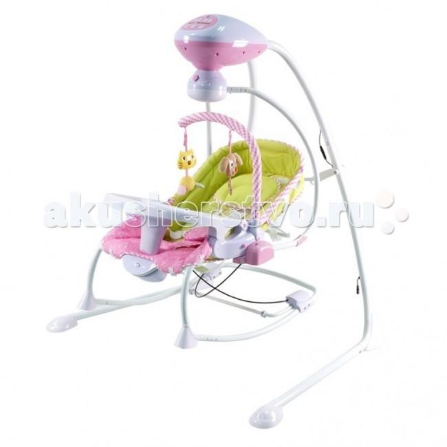Электронные качели Pituso Alicante+ 4 в 1Alicante+ 4 в 1Электронные качели Pituso Alicante+ 4 в 1 незаменимы для молодых родителей, ищущих способ отдохнуть от укачивания ребёнка хотя бы полчаса.   Качели – самое любимое детское развлечение, а уж модель с музыкальным блоком, игрушками и несколькими уровнями скорости качания приведёт в восторг любого взрослого и найдёт подход даже к грудным малышам, ещё не способным оценить по достоинству классические качели.   Особенности: компактен, занимает мало места в комнате, при необходимости можно сложить сиденье качелей можно использовать в качестве отдельной люльки или шезлонга качели оборудованы функцией вибрации предусмотрен поворотный механизм на 90 и 180 градусов предопределена функция автоматической регулировки скорости поворота качели имеют уникальную систему автоматического контроля веса ребенка предусмотрено 5 скоростей качания качели работают в трех режимах: 8, 15 и 30 минут есть музыкальный блок: воспроизводится 8 мелодий в комплекте - мягкие подвесные игрушки угол наклона спинки кресла меняется в 3 положениях сиденье оборудовано пятиточечными ремнями безопасности шезлонг можно использовать в качестве стульчика для кормления: есть небольшой столик дополнительный аксессуар - москитная сеточка чехол съемный качели работают от электро адаптера или от батареек  максимальная нагрузка: 12 кг размер (ВxШxД): 105x106x76 см вес в упаковке: 14,5 кг производство: Китай Для работы качелей необходимы 4 батарейки типа АА и 1 батарейка типа D (1,5V). В комплект не входят<br>