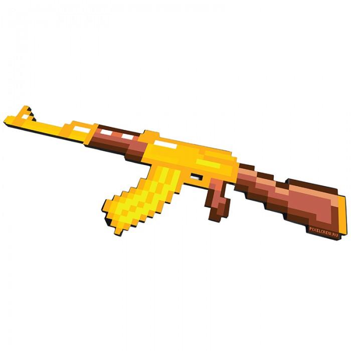Игрушечное оружие Pixel Crew Игрушечное оружие Автомат АК-47 8 Бит пиксельный 68 см игрушечное оружие jja дротики с мелом для wipe out 3 шт