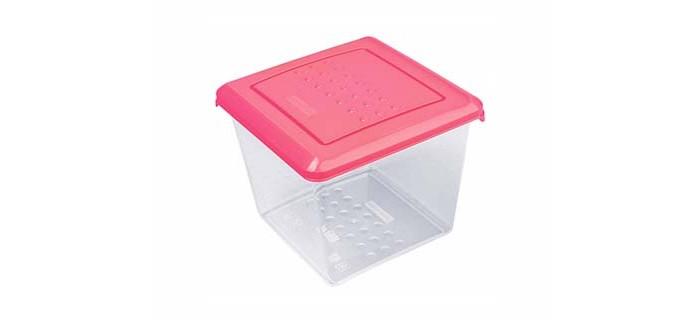 Картинка для Контейнеры для еды Plast Team Емкость для хранения продуктов квадратная Pattern 1 л