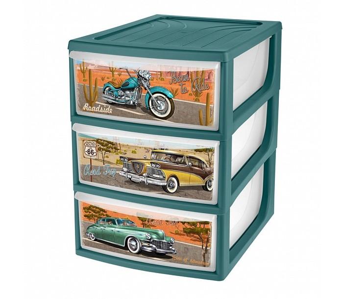 Пластишка Органайзер с декором формата А5 3 ящика 195х254х264 мм