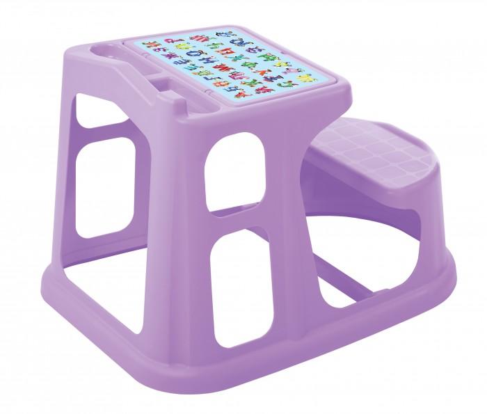 Пластиковая мебель Пластишка Стол-парта детская с аппликацией 730х550х500 мм