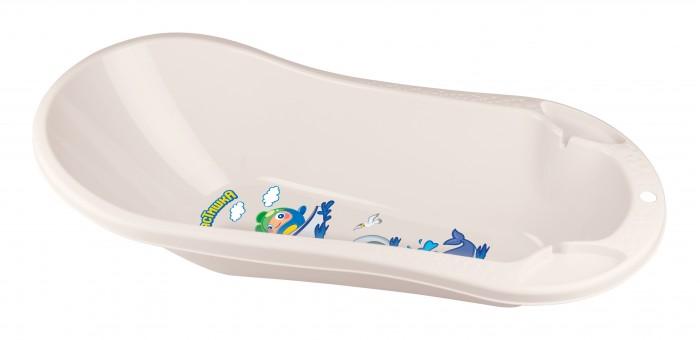 детские ванночки пластишка ванна детская с клапаном для слива воды Детские ванночки Пластишка Ванна детская с клапаном для слива воды и аппликацией 46 л