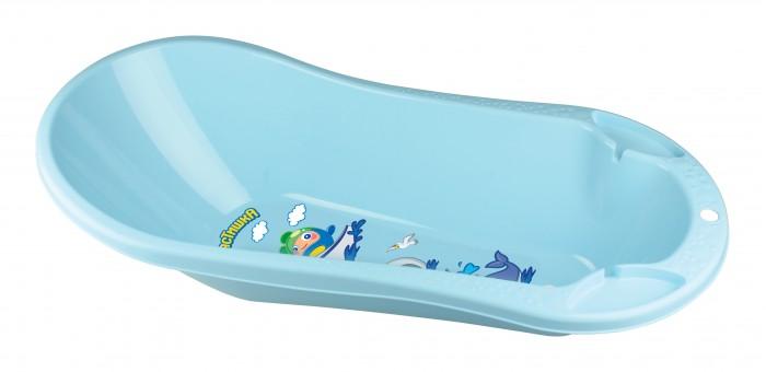 Купить Детские ванночки, Пластишка Ванна детская с клапаном для слива воды и аппликацией 46 л