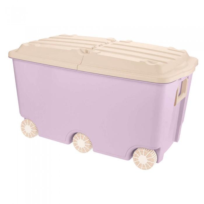 Ящики для игрушек Пластишка Ящик для игрушек на колесах 66.5 л 68,5*39,5*38,5 мм ящики для игрушек пластишка ящик универсальный с аппликацией алфавит и цифры 335х240х155 мм