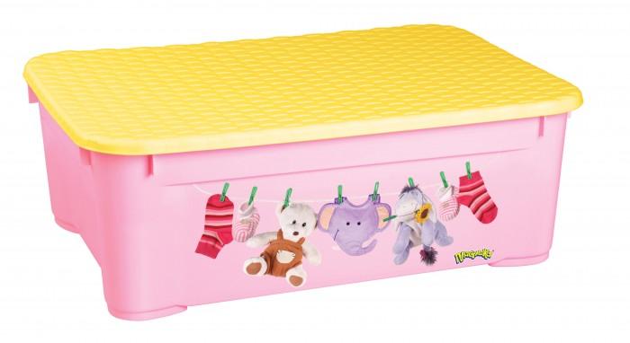 ящики для игрушек Ящики для игрушек Пластишка Ящик для игрушек с аппликацией 555х390х190 мм