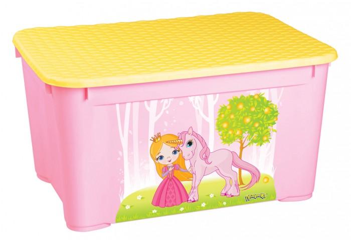 Ящики для игрушек Пластишка Ящик для игрушек 555х390х290 мм с аппликацией ящики для игрушек tomjerry ящик универсальный с аппликацией 33 5x24x15 5 см