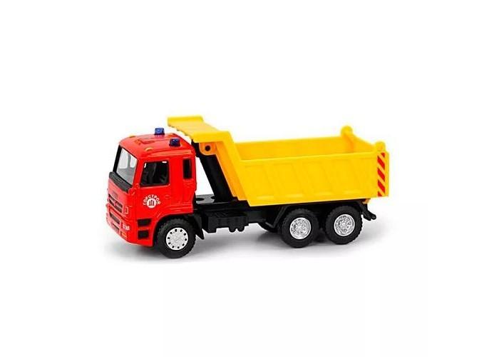 Машины Play Smart Строительный инерционный грузовик Автопарк 1:54 машины play smart инерционный грузовик продукты