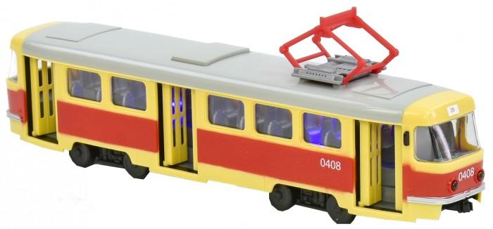 Машины Play Smart Трамвай инерционный Автопарк 1:87 машины play smart инерционный грузовик продукты
