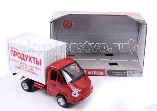 Машины Play Smart Инерционная Газель фургон 24 см машины play smart автопарк инерционная машина газель 3221 такси 23 см