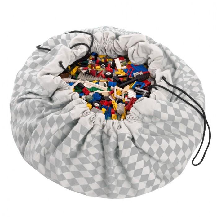Детская мебель , Ящики для игрушек Play&Go 2 в 1: мешок для хранения игрушек и игровой коврик бриллиант арт: 338475 -  Ящики для игрушек