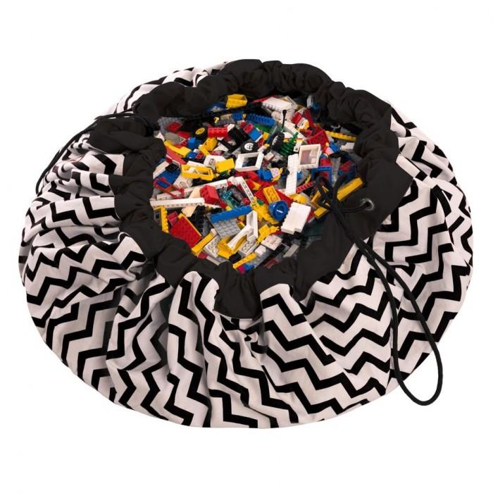 Детская мебель , Ящики для игрушек Play&Go 2 в 1: мешок для хранения игрушек и игровой коврик зигзаг арт: 338495 -  Ящики для игрушек