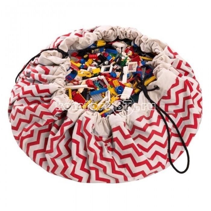 Купить Ящики для игрушек, Play&Go 2 в 1: мешок для хранения игрушек и игровой коврик зигзаг