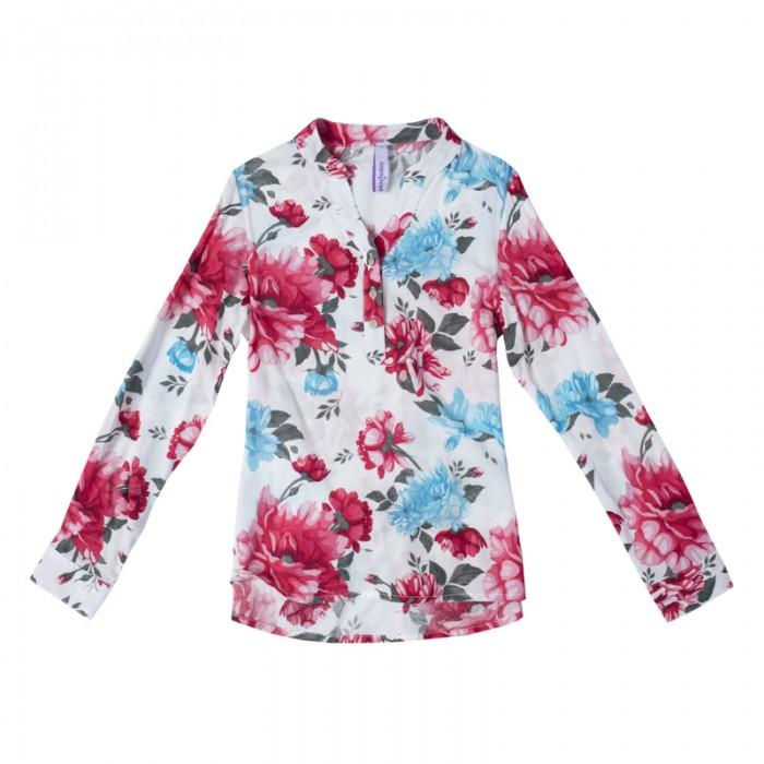 Блузки и рубашки Playtoday Блузка для девочек Пионы 182106
