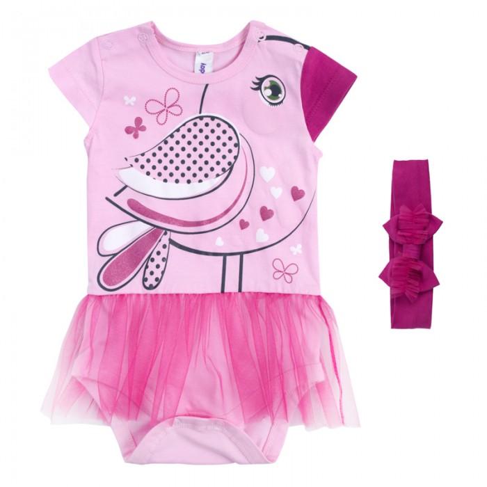 Боди и песочники Playtoday Боди для девочек Мой цветочек 188861 одежда для детей